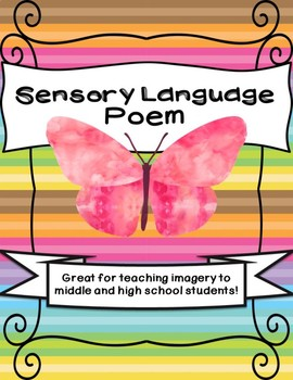 Sensory Language Poem Activity Imagery