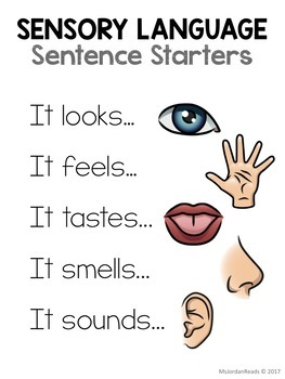 Sensory Language Posters Free By Msjordanreads Tpt