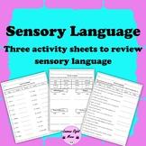 Sensory Language Sort Activities