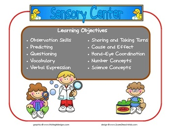 Sensory Learning Center Sign~ With Objectives