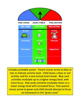 Sensory Modulation Breaks for Homework Time!