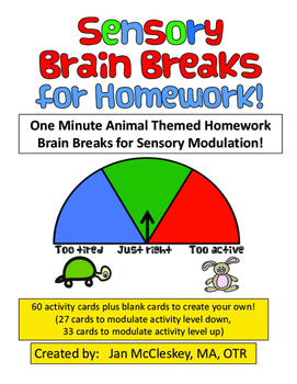 Sensory Modulation Breaks for Homework Time!