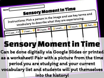 Sensory Moment in Time: Primary Source Activity