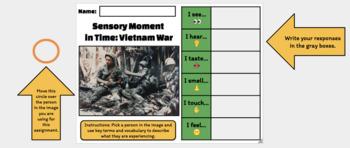 Sensory Moment in Time: Vietnam War (Google Drawing Activity!)