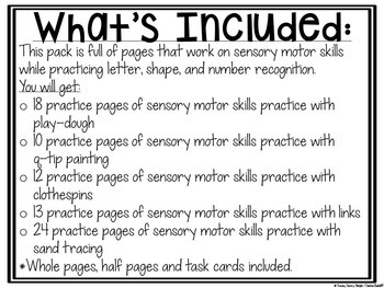 Sensory Motor Skills