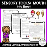 Sensory Tools:  Mouth - PDF Info Handout