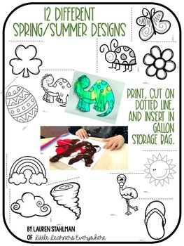 Sensory Painting Pages {Mess Free!}