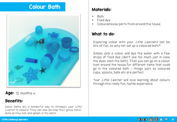Sensory Play for your Little Learners - eBook for Babies and Toddlers