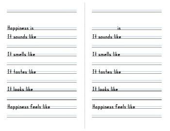 Sensory Poem Template