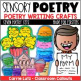 Sensory Poem Template   Sensory Poetry Writing Crafts
