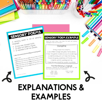 Sensory Poems Google Slides and PDF | Distance Learning