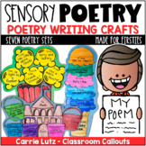 Sensory Language Activities & Craftivities for Sensory Poetry