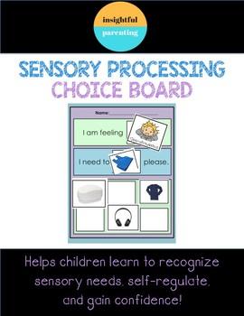 Sensory Processing Choice Board