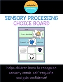 Sensory Processing Choice Board