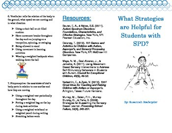 Sensory Processing Disorder- strategies