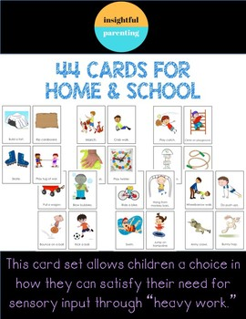 Sensory Processing Heavy Work Cards