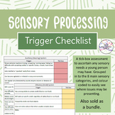 Sensory Processing – Sensory needs trigger checklist