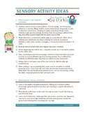 Sensory Processing Tip Sheets