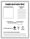Sensory Pumpkin Observation Sheet