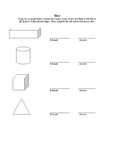 Sensory Rice play and recording sheet using 3D objects