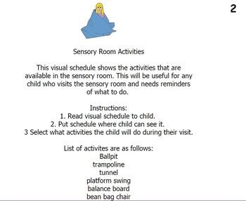 Sensory Room Activities/Visual Schedule