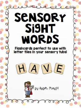 Sensory Sight Words