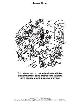 Sensory Stories Free PDF Cafeteria