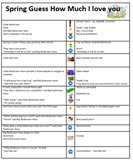 Sensory Story Guidance Sheet Guess How Much I love you Spring