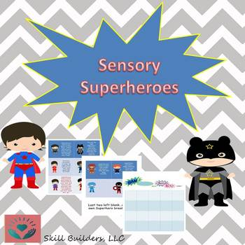Sensory Superheroes Break Cards