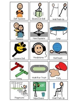Sensory Supports Choice Board: Classroom