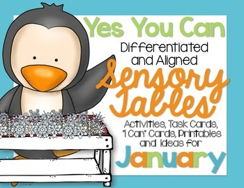 Sensory Table - Sensory Bin Activities, Task Cards and Printables for January