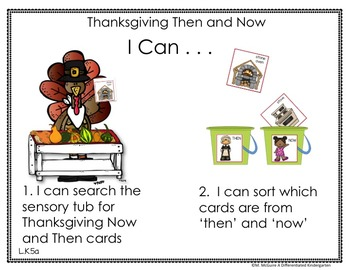 Sensory Table - Sensory Bin Activities, Task Cards and Printables for November
