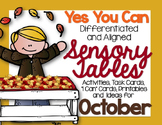 Sensory Table - Sensory Bin  Activities for October