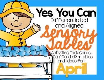 Sensory Table - Sensory Bin Activities, Task Cards Printables For April