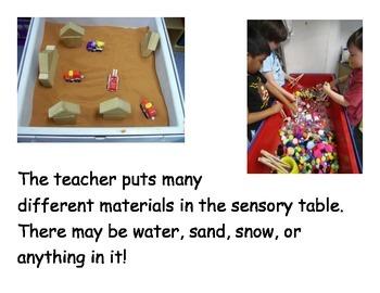 Social Narrative: Sensory Table