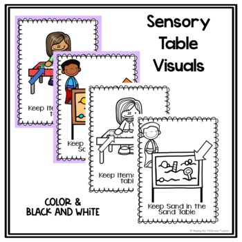 Sensory Table- Visuals, Posters, & Ideas