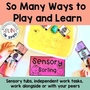 Sensory Bin Activities | Sorting for Spring