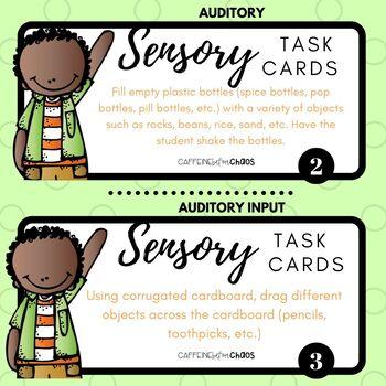 Sensory Task Cards-Auditory Input