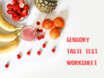 Sensory Taste Test Worksheet