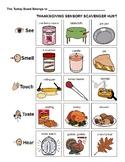 Sensory Thanksgiving Scavenger Hunt