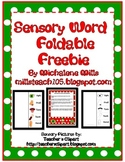 Sensory Word Foldable Freebie