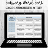 Sensory Word Sort Google Classroom Digital Activity [SOL 4.5g]