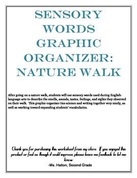 Sensory Words Graphic Organizer