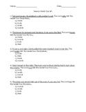 Sensory Words Quiz #1
