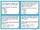 Sensory Words Task Cards