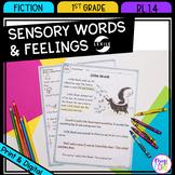 Sensory Words and Feelings - 1st Grade RL.1.4 - Printable