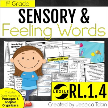 Sensory Words and Feelings in Poetry and Stories RL1.4- Poetry Unit