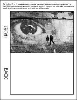 Sensory Writing Activity: 6 Paris Postcard Prompts