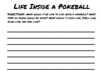 "Pokemon-Themed Sensory Writing Activity - ""My Life Inside a Pokeball"""