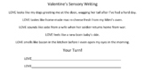 Sensory Writing Valentine's Activity